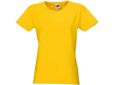 "Футболка женская ""Heavy Super Club"", цвет жёлтый, размер S"