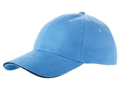 """Бейсболка """"Challenge"""" 6-ти панельная, цвет небесно-голубой с тёмно-синей окантовкой"""
