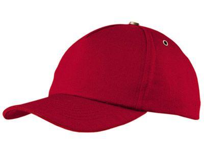 """Бейсболка """"New York"""" 5-ти панельная с металлической застёжкой и фурнитурой, цвет красный"""