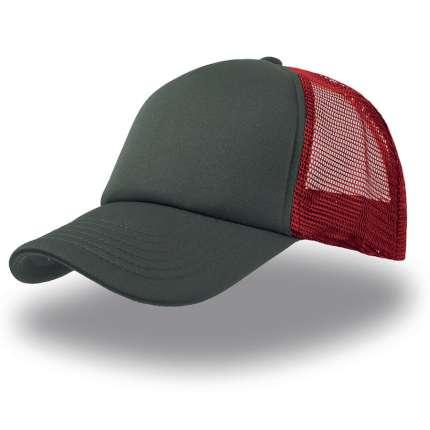 """Бейсболка """"Rapper"""", 5 клиньев, цвет белый с красным"""