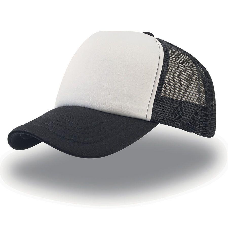 """Бейсболка """"Rapper"""", 5 клиньев, цвет чёрный с белым"""