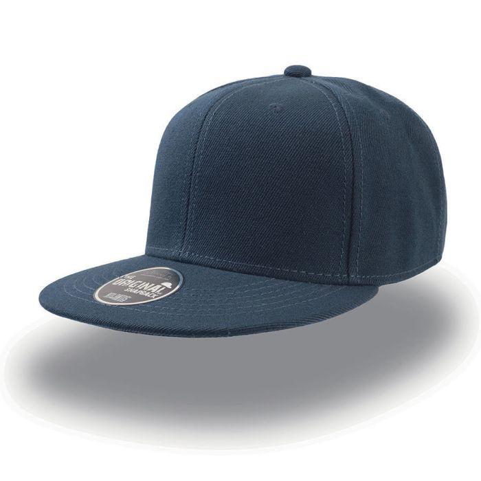 """Бейсболка """"SNAP BACK"""" 6 клиньев, плоский козырек, пластиковая застежка пвх, цвет тёмно-синий"""