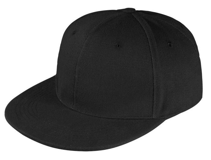 Бейсболка Unit Snapback с прямым козырьком, чёрная