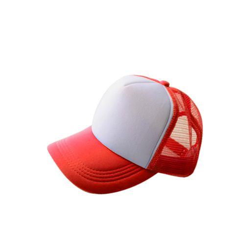 Бейсболка под сублимацию с белым полем для печати, красная