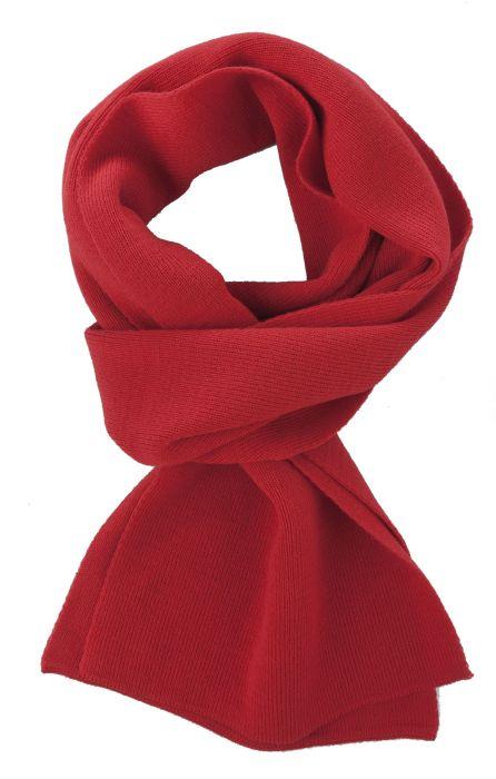Шарф Easy, 140x20 см, красный (алый)