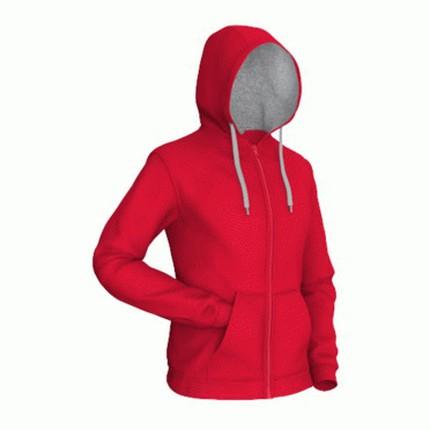 Толстовка мужская 17 Style, цвет красный с серым, размер L