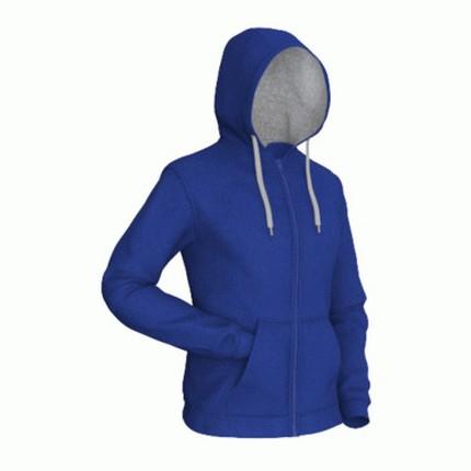Толстовка мужская 17 Style, цвет синий (васильковый) с серым, размер L