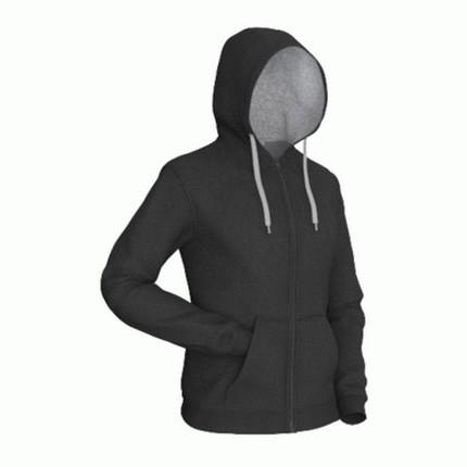 Толстовка мужская 17 Style, цвет чёрный с серым, размер XL