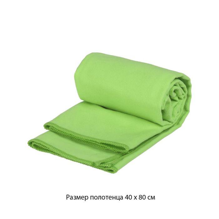 """Полотенце для фитнеса """"Тонус"""", 40х80 см, цвет зелёное яблоко"""