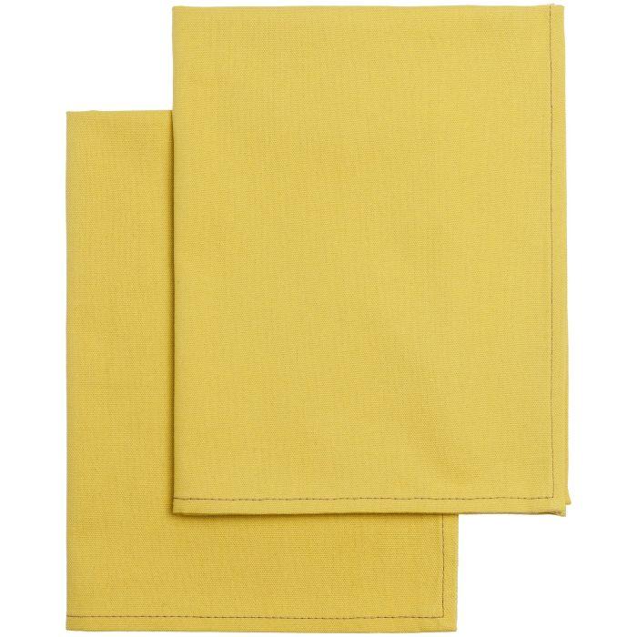 Набор из двух кухонных полотенец Keep Palms, цвет горчичный