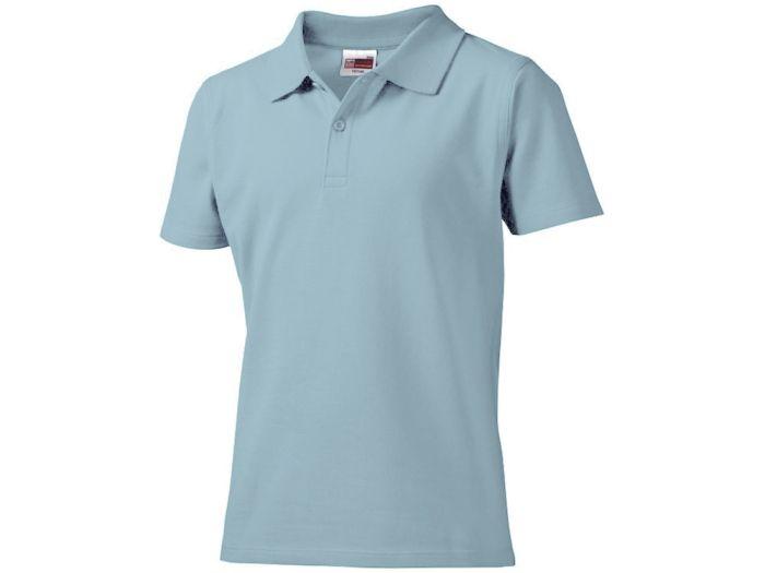 """Рубашка поло """"First"""" детская,голубая,8 лет"""