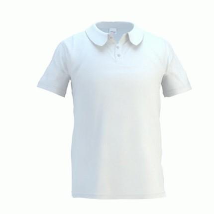 Рубашка поло мужская 04 Premier, цвет белый, размер S