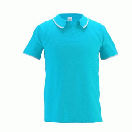 Рубашка поло мужская 04T Trophy, цвет бирюзовый, размер XL