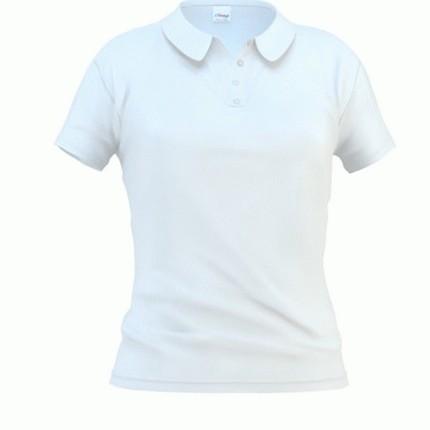 Рубашка поло женская 04WL Woman, цвет белый, размер XXL