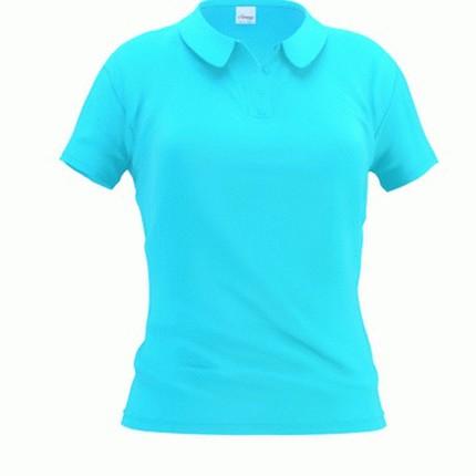 Рубашка поло женская 04WL Woman, цвет бирюзовый, размер S