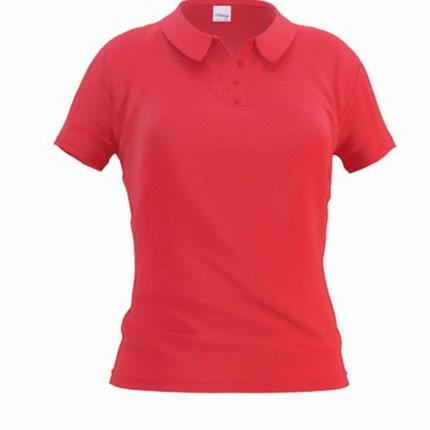 Рубашка поло женская 04WL Woman, цвет красный, размер S