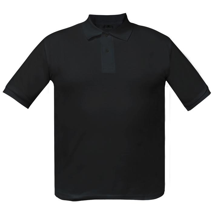 Рубашка поло мужская Short, цвет чёрный, размер L