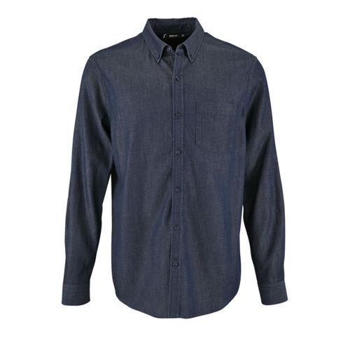 Рубашка мужская Barry Men синяя (деним), размер S
