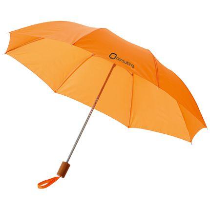 """Зонт складной """"Nicea"""", механический, цвет оранжевый"""
