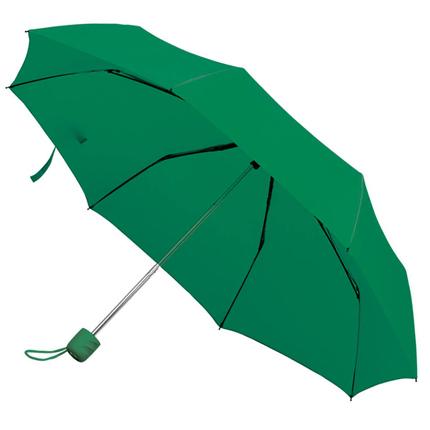 """Зонт складной """"Foldi"""", механический, цвет пластиковой ручки и купола зелёный"""