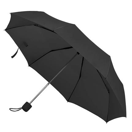 """Зонт складной """"Foldi"""", механический, цвет пластиковой ручки и купола чёрный"""