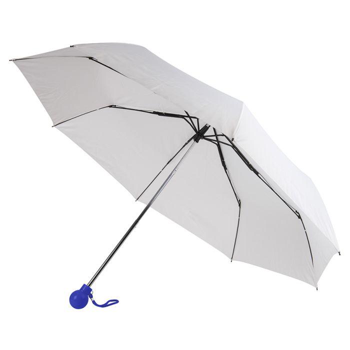 Зонт складной FANTASIA, механический, цвет белый/синий