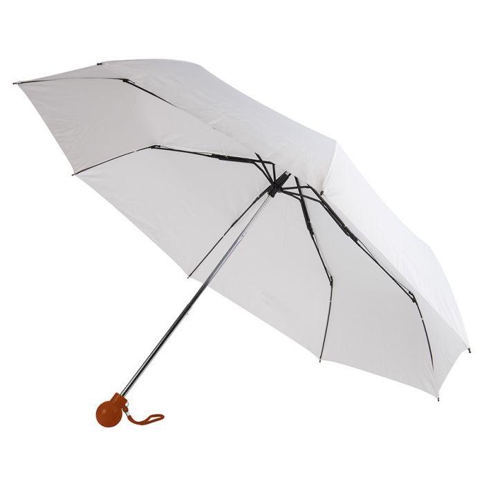Зонт складной FANTASIA, механический, цвет белый/светло-коричневый