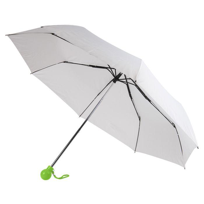 Зонт складной FANTASIA, механический, цвет белый/зелёное яблоко