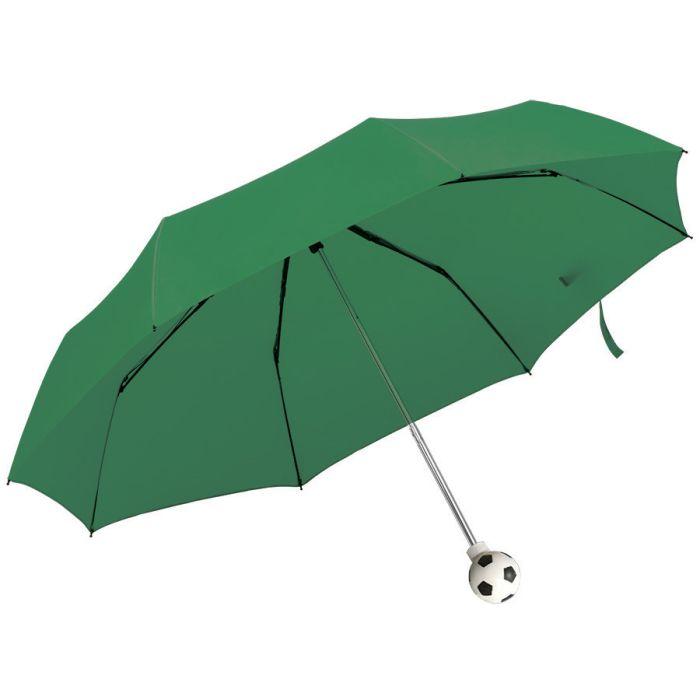 Зонт складной FOOTBALL, механический, с ручкой в виде футбольного мяча