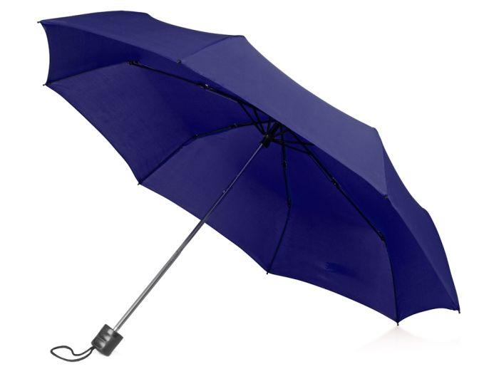 """Зонт складной """"Columbus"""", цвет тёмно-синий"""