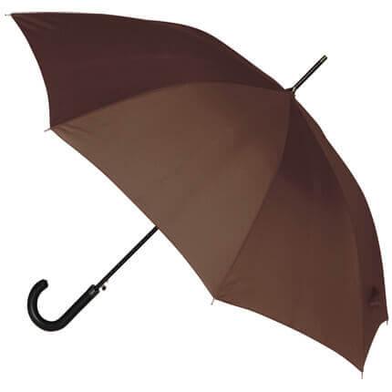 """Зонт-трость """"Алтуна"""", полуавтоматический с ручкой из кожзаменителя, цвет коричневый"""