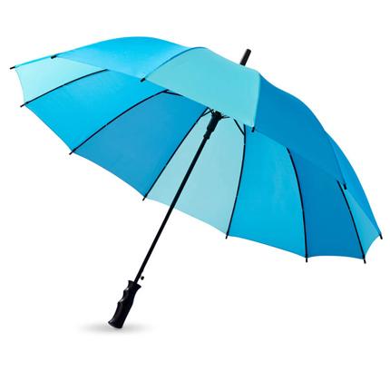 """Зонт-трость """"Trias"""", полуавтомат, цвет купола из трёх оттенков синего"""