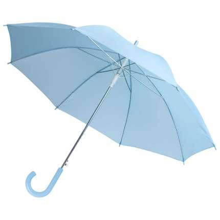 Зонт-трость Unit Promo, полуавтомат с пластиковой ручкой, цвет купола голубой