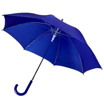 Зонт-трость Unit Promo, полуавтомат с пластиковой ручкой, цвет купола синий