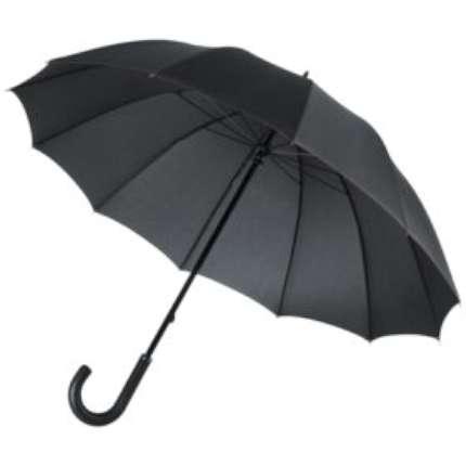 Зонт-трость механический Lui, чёрный с красным