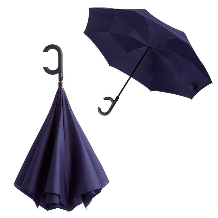 """Зонт-трость """"наизнанку"""" Unit ReStyle, полуавтомат, цвет тёмно-фиолетовый"""