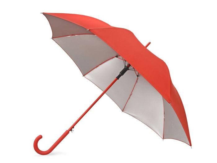 """Зонт-трость """"Silver Color"""", цвет серебристый/красный"""