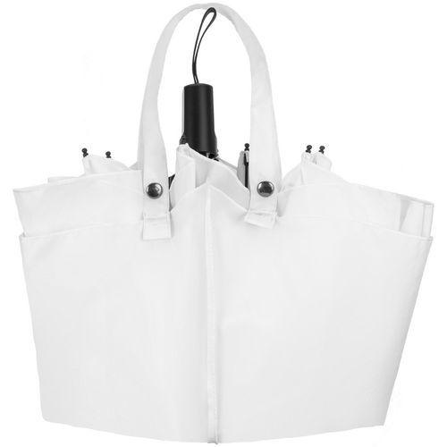 Зонт-сумка складной Stash, белый