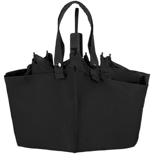 Зонт-сумка складной Stash, Чёрный