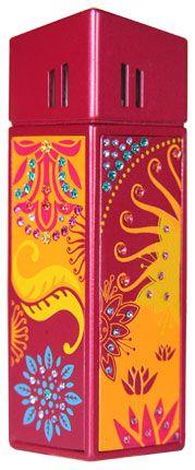 """Зажигалка """"CRICKET Premium Paris"""" газовая, инкрустирована кристаллами Swarovski, модель Bollywood 2, цвет малиновый"""