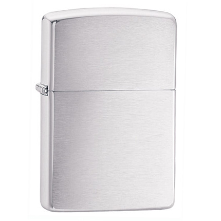Зажигалка ZIPPO Classic с покрытием Brushed Chrome, серебристая матовая