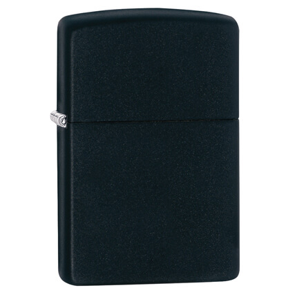 Зажигалка ZIPPO Classic с покрытием Black Matte, чёрная матовая