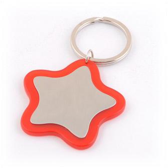 Брелок в виде звезды с пластиковым обрамлением, красный