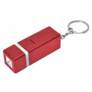 Брелок с фонариком квадратного сечения, красный, пластик