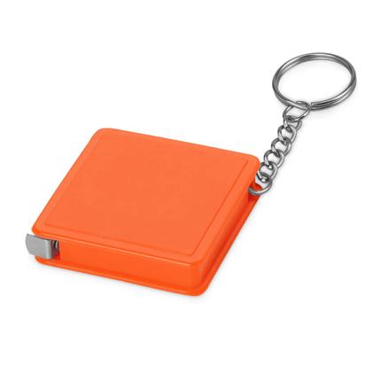 """Брелок-рулетка """"Дюйм"""", 1м, с карабином, цвет оранжевый"""