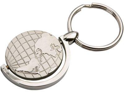 """Брелок """"Sphere"""" с глобусом, вращающимся внутри кольца"""