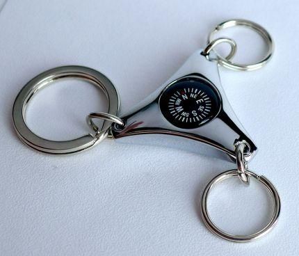 Брелок-компас тройной