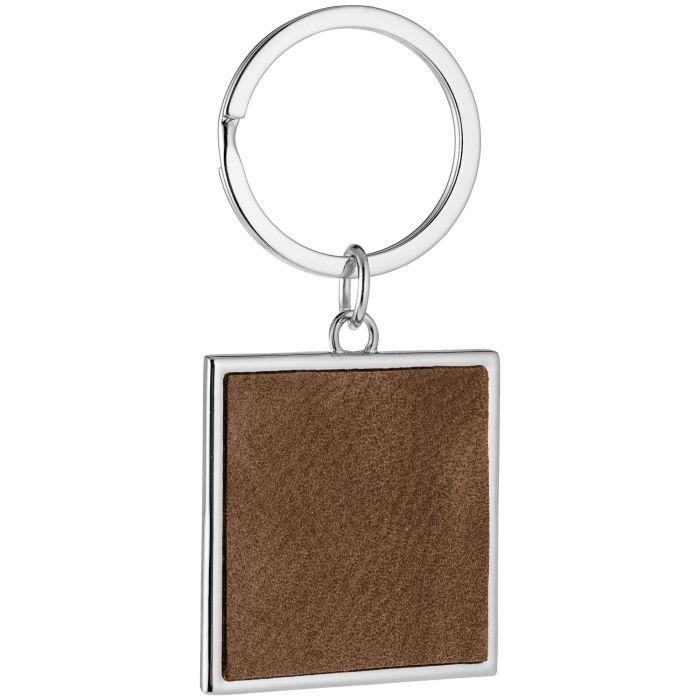 Брелок Grey Square, коричневый