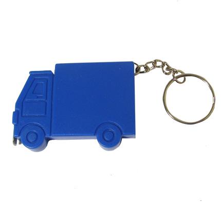 """Брелок-рулетка """"Грузовик"""", длина 1м, с витым кольцом, цвет синий"""