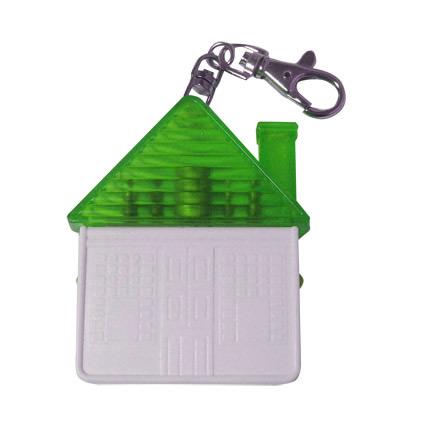 """Брелок-отвёртка """"Домик"""" с набором из 4 вставок-бит, цвет зеленый с белым"""